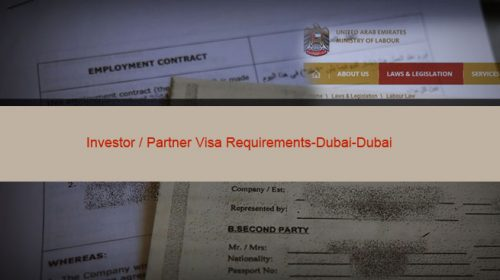 Investor / Partner Visa Requirements-Dubai