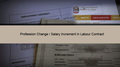 Profession Change / Salary Increment in Labour Contract